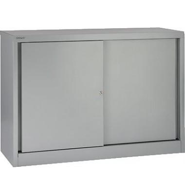Aktenschrank ECO SD412081S355, Stahl abschließbar, 2 OH, 120 x 83,9 x 43 cm, silber