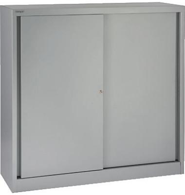 Aktenschrank ECO SD412112S355, Stahl abschließbar, 3 OH, 120 x 118,1 x 43 cm, silber