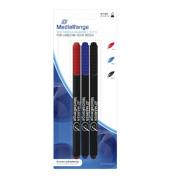 CD/DVD/BlueRay-Marker MR701 3er Etui farbig sortiert 0,7mm Rundspitze