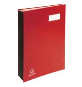 Unterschriftenmappe 5702 A4 Karton rot mit Einsteckschild 20 Fächer