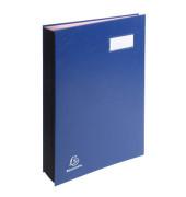 Unterschriftenmappe 5702 A4 Karton blau mit Einsteckschild 20 Fächer