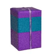 Geschenkpapier Brokat Ornamente beidseitig bedruckt lila/blau 50cm x 20m