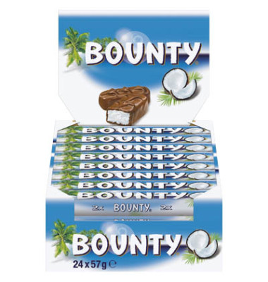 Bounty 91693 2 x 28,5 g Süsswaren Bounty Vollmilch 57 g Riegel