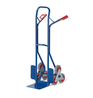 Sackkarre 20-9833 tragfähig bis 150kg blau 30x22,5cm Stahl mit 3-Rad-Stern für Treppen