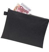 Reißverschlusstasche DIN A5 Textil schwarz