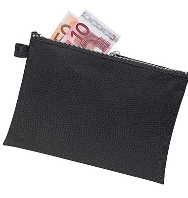 Veloflex Reißverschlusstasche Din A5 Textil Schwarz