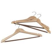 3 Holz Kleiderbügel braun 116714