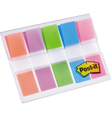 Index Haftstreifen Mini 11,9 x 43,2 mm (B x H) 1 x neonorange 1 x lila 1 x limonengrün 1 x blau 1 x pink 20 Bl./Block 5 Block