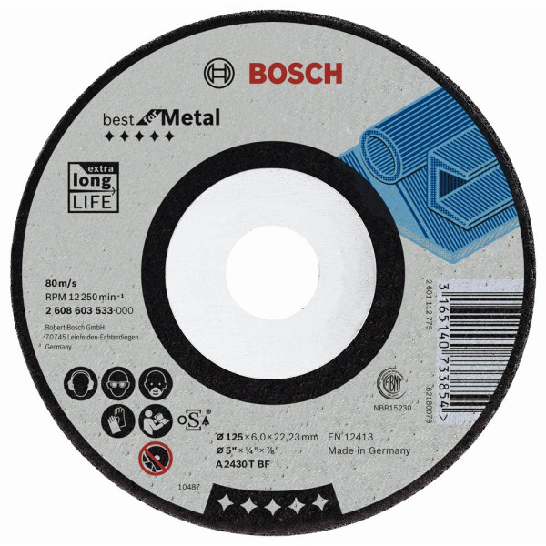 Bosch Schruppscheibe Fur Metall Eisenmetall Stahl 2608603533