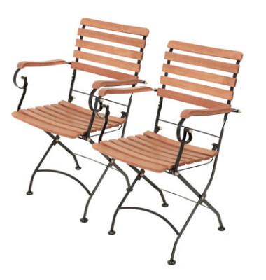 2 Gartenstühle Wien braun 304932-2