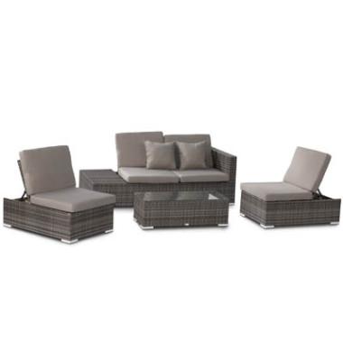 Loungegruppe Alcudia grau 970175