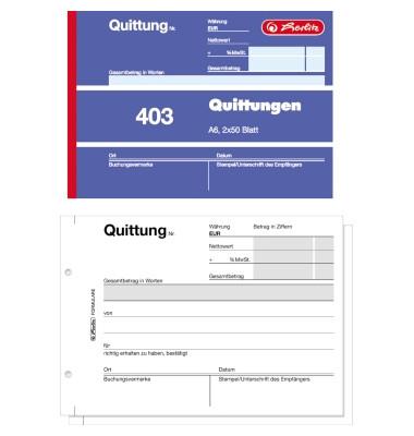 Quittungsblock A6 2x50Blatt/886614