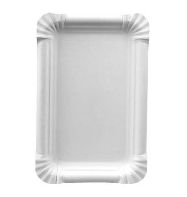 Pappteller eckig weiß 13x20 cm 250 St