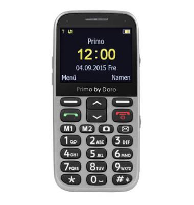 366 Großtasten-Handy silber
