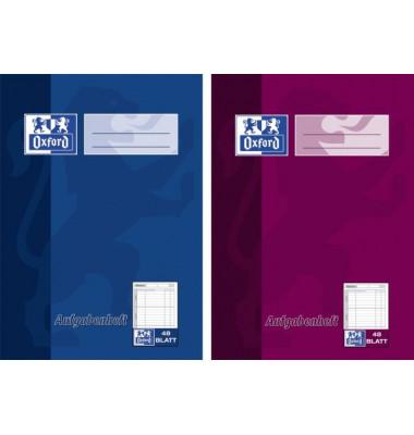 Hausaufgabenheft ab 9.Klasse A5 farbig sortiert 48 Blatt