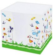 RNK 46478 9x9x9cm Notizklotz Schmetterlinge