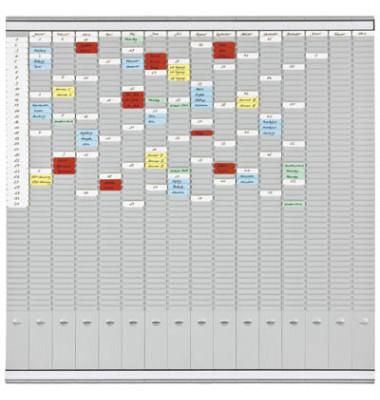 T-Karten Office Planer Set grau 1008x1008mm m.Zube.
