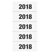 Jahreszahlen 2018 für Ordner weiß, 60x26mm, Papier matt, 100 Etiketten
