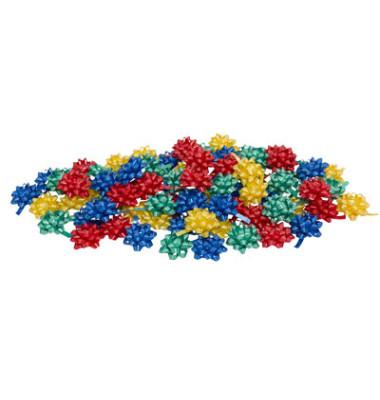 Geschenk-Schleifen glänzend mehrfarbig 78715-099