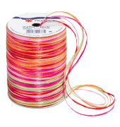 Geschenkband Raffia 3mm x 50m matt pink/orange/grün