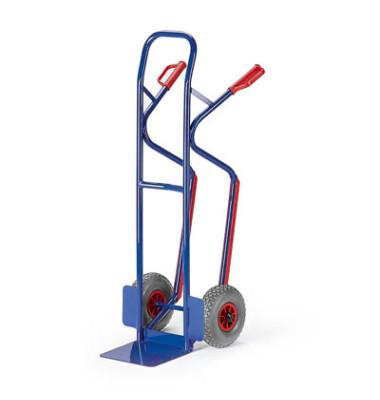 Sackkarre 20-9881 tragfähig bis 250kg blau 30x22,5cm Stahl TPE-Bereifung