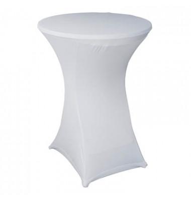 Tischdecke Überzug für Stehtische weiß Ø 85cm 427751