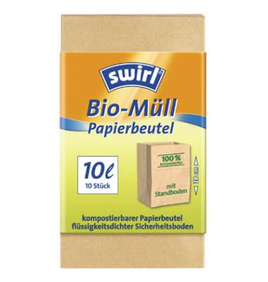 10 Bio-Müllbeutel Bio-Müll Papierbeutel 10,0 l 14200-30