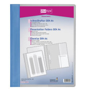 Schnellhefter Veloform 4741 A4+ überbreit blau PVC Kunststoff kaufmännische Heftung bis 100 Blatt