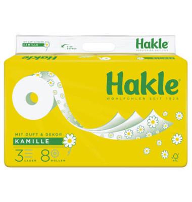 Toilettenpapier Kamille 382574 3-lagig 8 Rollen