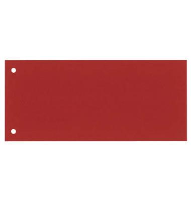 Trennstreifen 8620100 rot 190g gelocht 235x105mm 100 Blatt