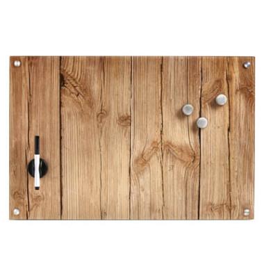 Glas-Magnettafel 60,0 cm x 40,0 cm Wood 11651