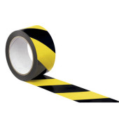 Signal-Packband 50mm x 66m gelb/schwarz PP