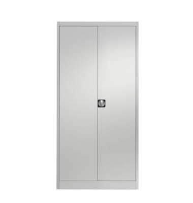 Aktenschrank entero BF4 7035/7035, Stahl abschließbar, 5 OH, 120 x 195 x 60 cm, lichtgrau