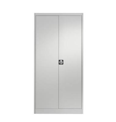 Aktenschrank entero BF4 7035/7035, Stahl abschließbar, 5 OH, 95,0 x 42,0 x 195,0 cm, lichtgrau