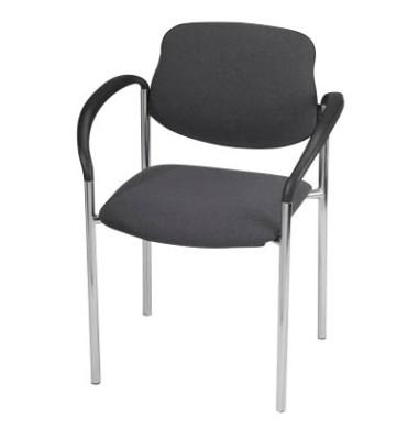 2 Besucherstühle anthrazit STYL 4L-ARM-CR C38 GB 2ER