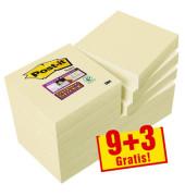 9+3 GRATIS: Super Sticky Notes Haftnotizen 62212SY gelb 622SY9+3
