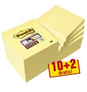 10+2 GRATIS: Haftnotizen 654 gelb 65412SYP