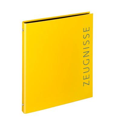 Zeugnismappen-Ringbuch 4144310 gelb 4-Ring Ø 16mm