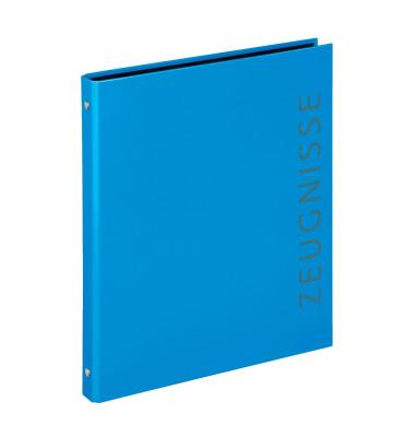 Zeugnismappen-Ringbuch 4144351 blau 4-Ring Ø 16mm