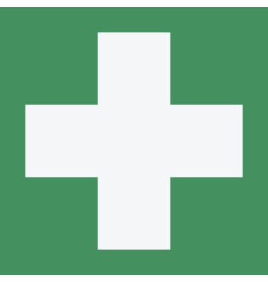 """Piktogramm """"Erste Hilfe"""" E003 148x148mm selbstklebend nachleuchtend"""