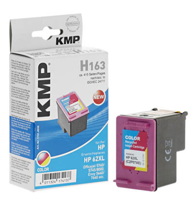 H163 color Tintenpatrone ersetzt HP 62XL 1741,4030