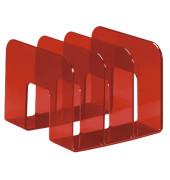 Katalogsammler 1701395003 Trend 215x210x165mm rot-transparent Polystyrol 3 Fächer à 65mm