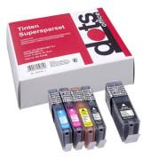 Druckerpatrone SparPack schwarz cyan magenta gelb ersetzen Canon PGI-550 XL BK, CLI-551 XL BK/C/M/Y