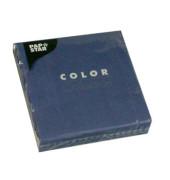 """20 Servietten """"Color Collection"""" dunkelblau 14274"""