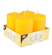 Stumpenkerze HxØ 80x50mm bis 16 Stunden gelb 4 Stück 10493