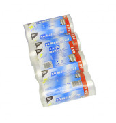 200 Müllbeutel, HDPE 35 l 69 cm x 55 cm transparent 12460