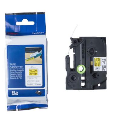 Einzelfähnchen Fle-6511 schwarz auf gelb 45 x 21 mm FLE6511
