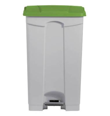 Mülleimer 90,0 l weiß, grün H24023-51