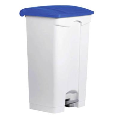 Mülleimer 90,0 l weiß, blau H24023-34