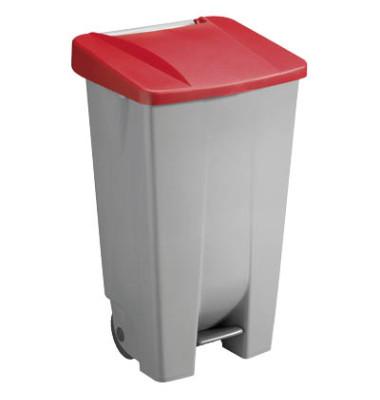 Mülleimer 120,0 l grau, rot H24055-25